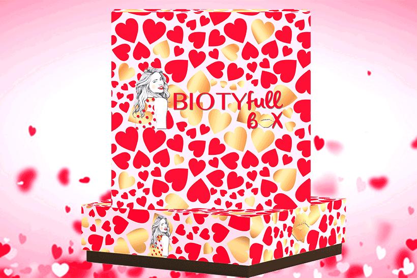 BIOTYFULL Box Février 2018 : L'Amoureuse (Saint-Valentin). Découvrez son Contenu