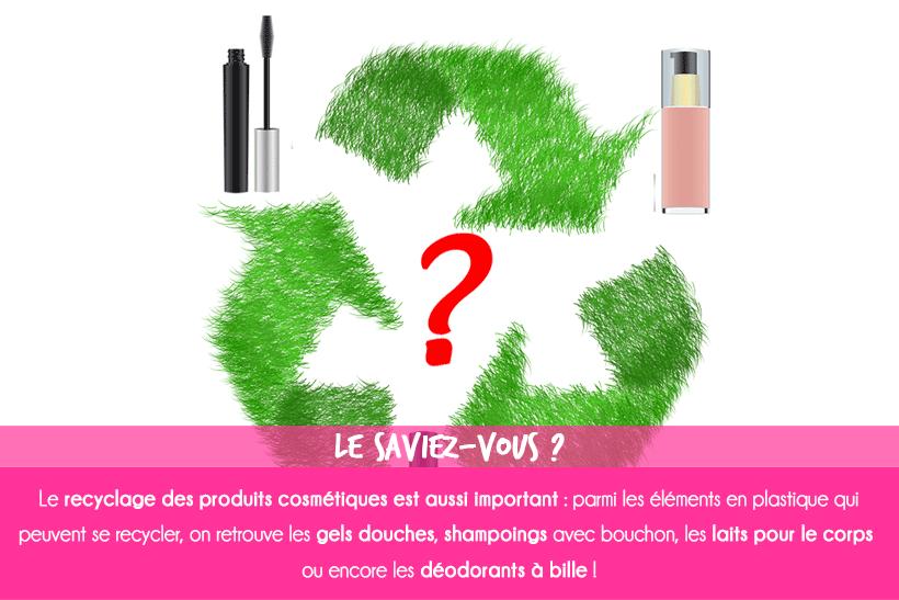 Le recyclage des produits cosmétiques, astuces et gestes à adopter.