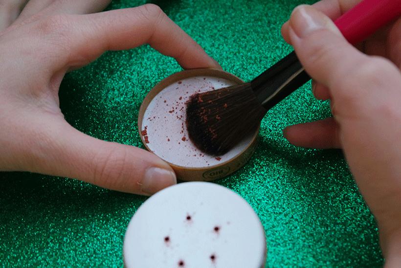 Poudre Bonne Mine Couleur Caramel - Etape 1