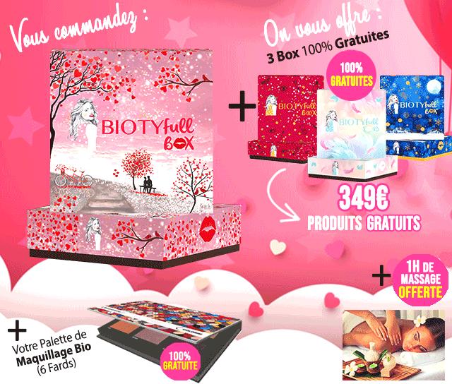 46aee2747ced La Nouvelle Box Spéciale Saint-Valentin à 32,90€ + vos 3 Box 100% Gratuites  !
