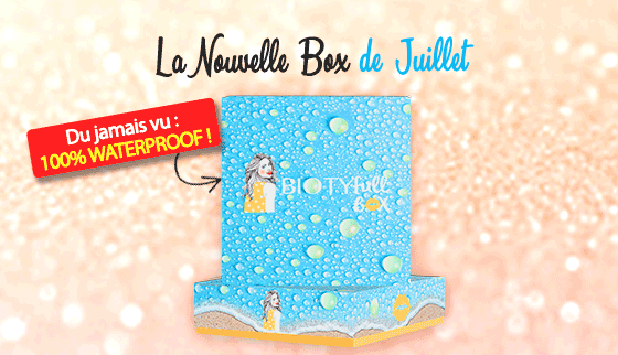 biotyfull box juillet 2019 100% WaterProof