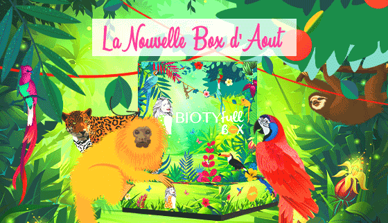 biotyfull box aout 2019 jungle apres-soleil
