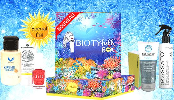 biotyfull box juillet 2020 100% Marine